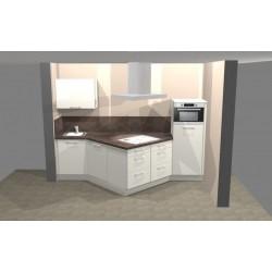(79) Nolte Lux, Hoogglans keuken met punt naar voren