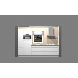 (80) Nobilia Pura wit hoogglans greeploze keuken