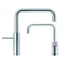 Quooker COMBI+ Nordic Square Twintaps Steel