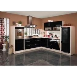 (5) Hoogglans keuken zwart, wit rood cappuccino of crema
